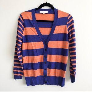 LOFT Sweaters - LOFT | Striped Button down Cardigan